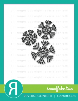 Reverse Confetti Cuts SNOWFLAKE TRIO Die Set Preview Image