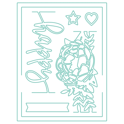 Concord & 9th HAPPY CARD FRAME Dies 10130C9 Preview Image