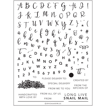 Concord & 9th PERFECTLY PENNED Clear Stamp Set 10132C9