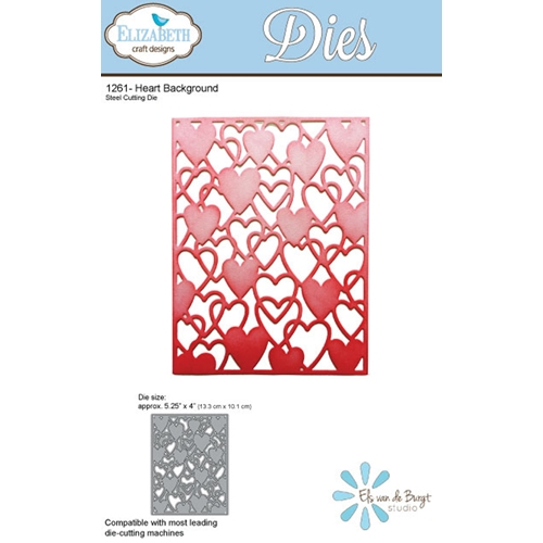 Elizabeth Craft Designs HEART BACKGROUND Craft Die 1261 Preview Image