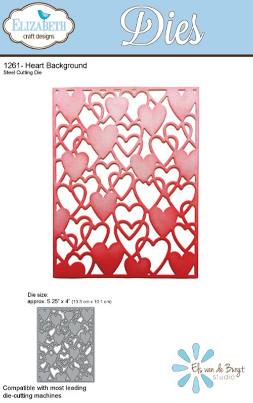 Elizabeth Craft Designs HEART BACKGROUND Craft Die 1261 zoom image