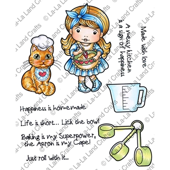 La-La Land Crafts Cling Stamp HAPPINESS IS HOMEMADE 5323