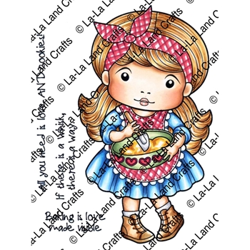 La-La Land Crafts Cling Stamp BAKER MARCI Set 5322