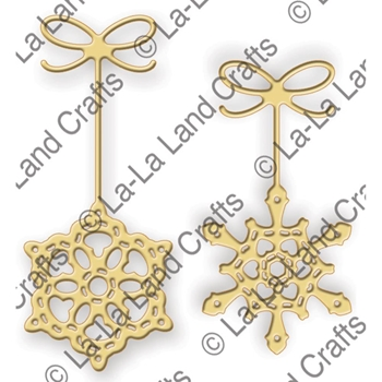 La-La Land Crafts SNOWFLAKE ORNAMENTS Die Set 8242