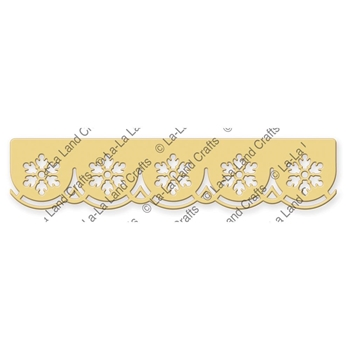La-La Land Crafts SCALLOPED SNOWFLAKE BORDER Die 8243
