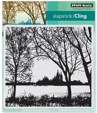 Penny Black Cling Stamp ON THE LAKE 40-501 zoom image