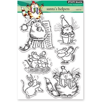 Penny Black Clear Stamps SANTAS HELPERS 30-385