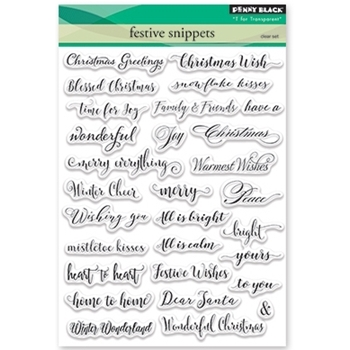 Penny Black Clear Stamps FESTIVE SNIPPETS 30-387