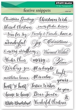 Penny Black Clear Stamps FESTIVE SNIPPETS 30-387 zoom image