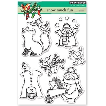Penny Black Clear Stamps SNOW MUCH FUN 30-388