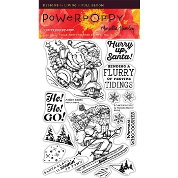 Power Poppy ACTION SANTA Clear Stamp Set PPOCT1603