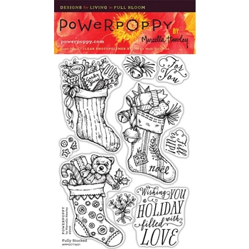 Power Poppy FULLY STOCKED Clear Stamp Set PPOCT1601