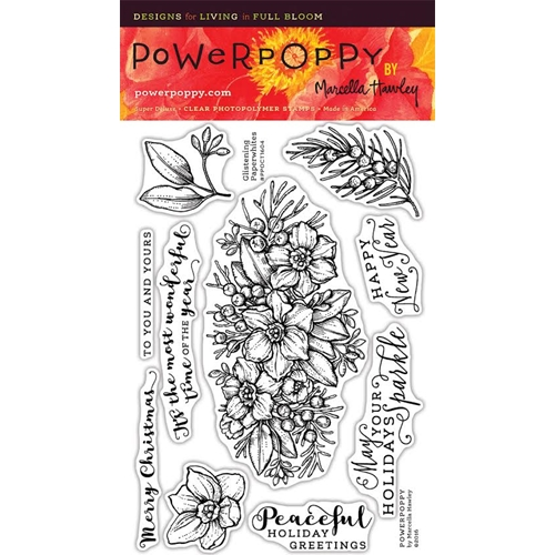 Power Poppy GLISTENING PAPERWHITES Clear Stamp Set PPOCT1604 Preview Image