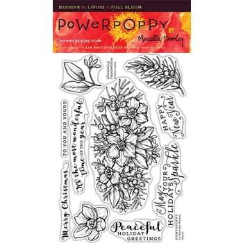 Power Poppy GLISTENING PAPERWHITES Clear Stamp Set PPOCT1604
