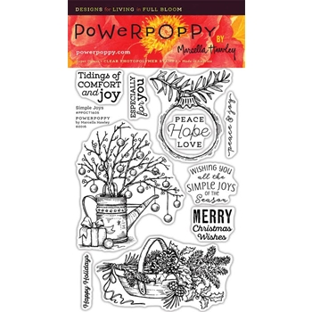 Power Poppy SIMPLE JOYS Clear Stamp Set PPOCT1605