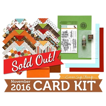 Simon Says Stamp Card Kit of The Month November 2016 Thankful Heart ck1116
