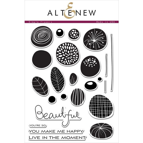 Altenew SIMPLE FLOWERS Clear Stamp Set  Preview Image