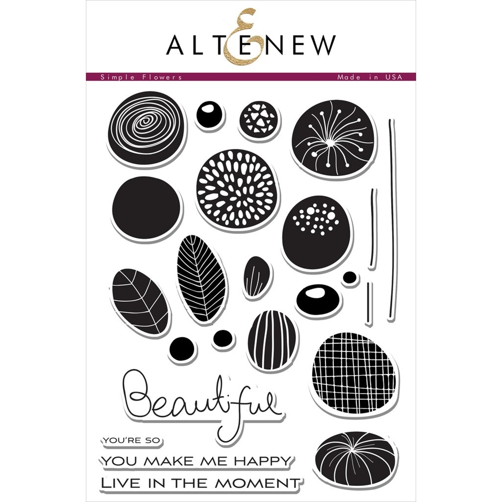 Altenew SIMPLE FLOWERS Clear Stamp Set  zoom image