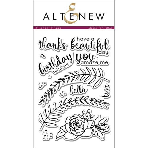 Altenew FLORAL FRAME Clear Stamp Set Preview Image