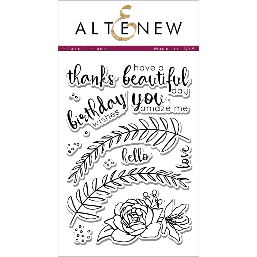 Altenew FLORAL FRAME Clear Stamp Set zoom image