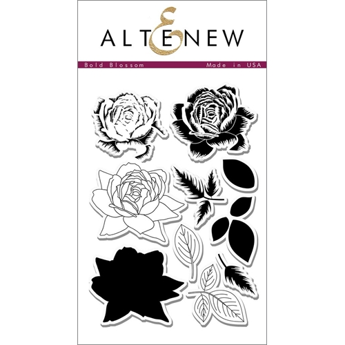 Altenew BOLD BLOSSOM Clear Stamp Set ALT1404 Preview Image