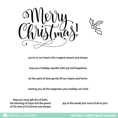 Mama Elephant Clear Stamps MERRY CHRISTMAS WISHES Preview Image