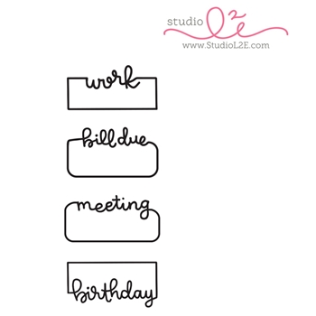Studio L2E WRITTEN REMINDERS 1 Clear Stamp Set