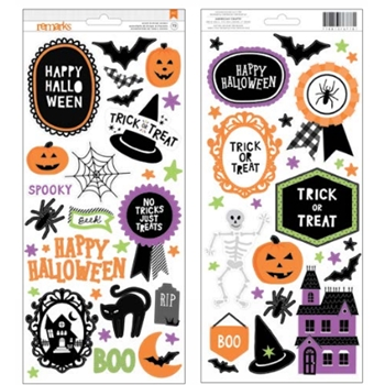 American Crafts HALLOWEEN Accent and Phrase Stickers 376778