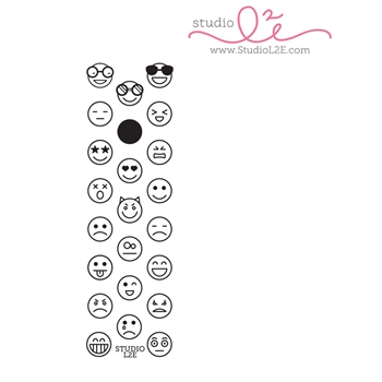 Studio L2E EMOTICONS Clear Stamp Set
