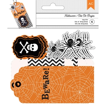 American Crafts BEWARE Halloween Tags 376568