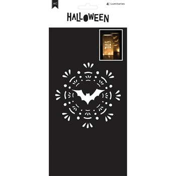 American Crafts HALLOWEEN LUMINARIES Set of Four 374165