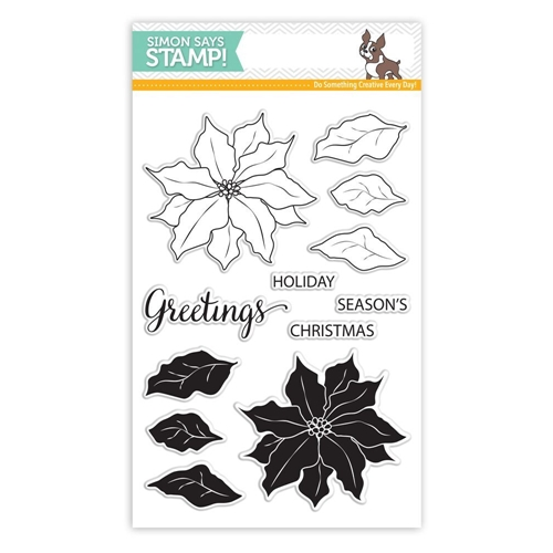 Simon Says Clear Stamps POINSETTIA SSS101651 Believe In The Season Preview Image