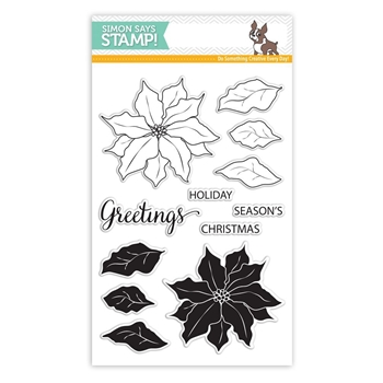 Simon Says Clear Stamps POINSETTIA SSS101651 Believe In The Season