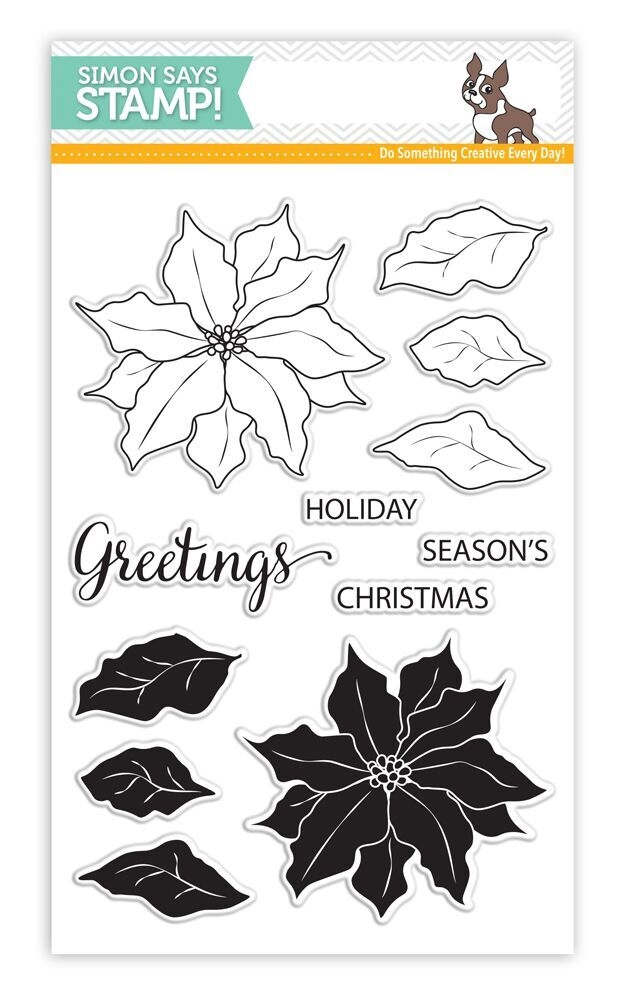 Simon Says Clear Stamps POINSETTIA SSS101651 Believe In The Season zoom image