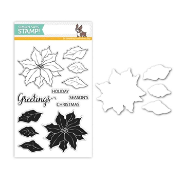Simon Says Stamps And Dies POINSETTIA Set281P Believe In The Season