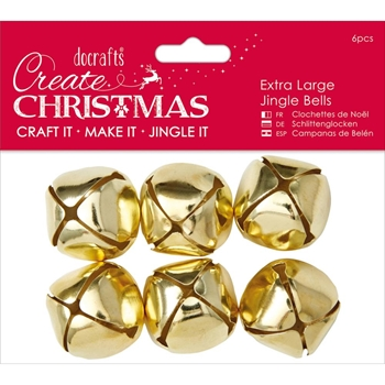 DoCrafts EXTRA LARGE GOLD Jingle Bells Papermania 356908