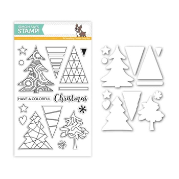 Simon Says Stamps And Dies COLOR ME TREES Set282CT Believe In The Season