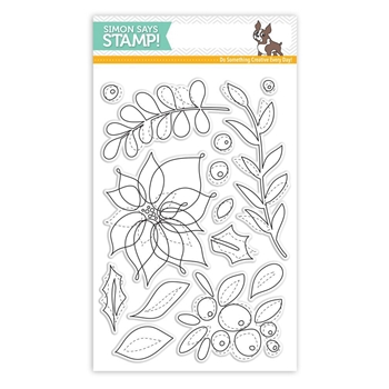 Simon Says Clear Stamps WINTER FLOWERS SSS101660 Believe In The Season