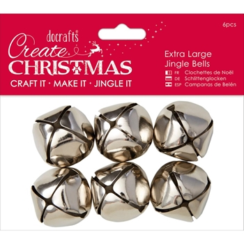 DoCrafts EXTRA LARGE SILVER Jingle Bells Papermania 356909