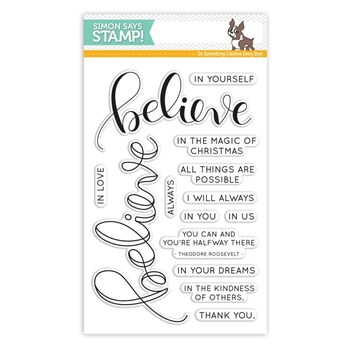 Simon Says Clear Stamps BELIEVE SSS101654 Believe In The Season