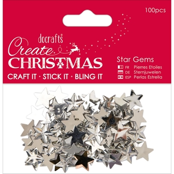 DoCrafts SILVER STAR GEMS Create Christmas Papermania 351910