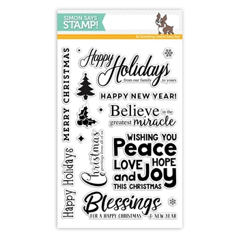 Simon Says Clear Stamps HAPPY CHRISTMAS SSS101675 Believe In The Season