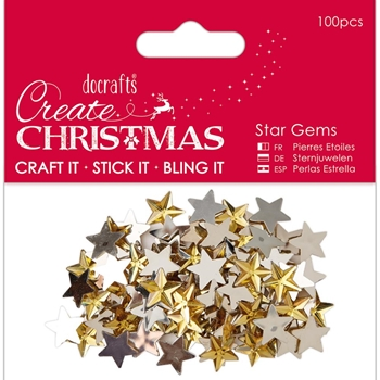 DoCrafts GOLD STAR GEMS Create Christmas Papermania 351909