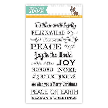 Simon Says Clear Stamps HOLIDAY MESSAGE STRIPS SSS101673 Believe In The Season