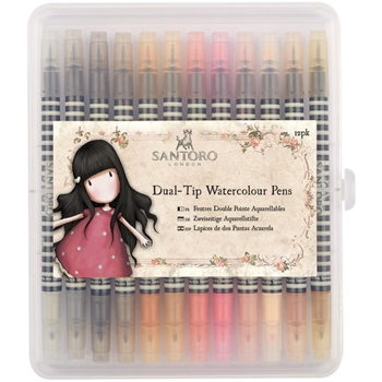 DoCrafts NEUTRALS DUAL TIP WATERCOLOUR PENS Santoro 851102