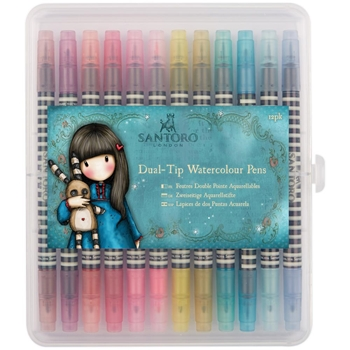 DoCrafts BRIGHTS DUAL TIP WATERCOLOUR PENS Santoro 851101