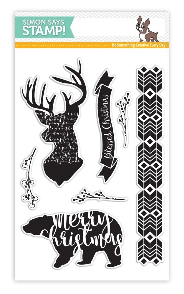 Simon's Exclusive Magical Christmas Clear Stamp Set