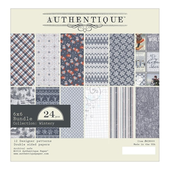 Authentique 6 x 6 WINTERY Paper Pad WIN009