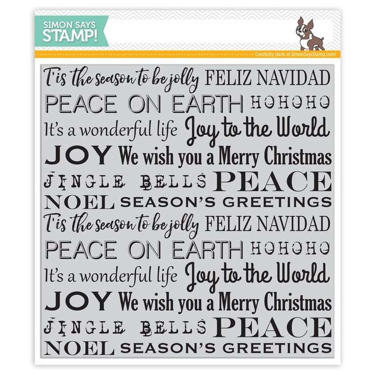 Simon's Exclusive Holiday Background Cling Stamp