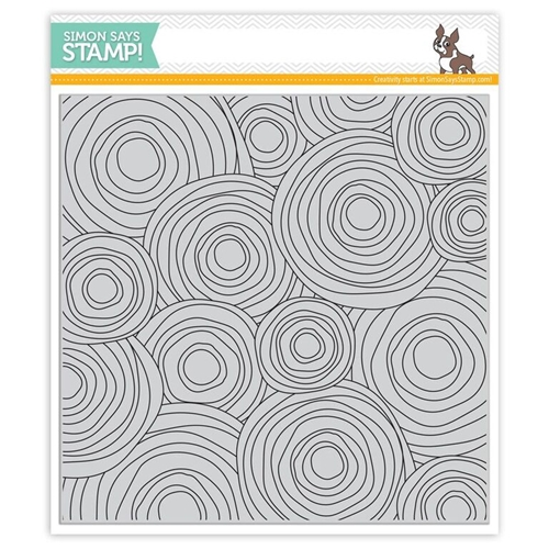Simon Says Cling Stamps CIRCLE DOODLE BACKGROUND SSS101670 Believe In The Season Preview Image